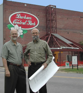 Curt Eshelman (left) and Allen Wilcox (right), cofounders of Durham Central Park
