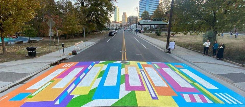 Crosswalk at Durham Central Park, a 501(c)3