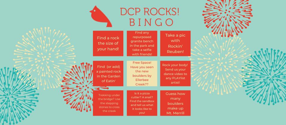 DCP Rocks! Bingo Cards