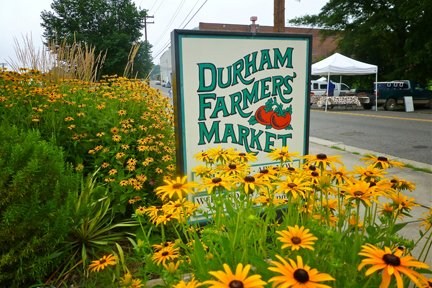 Durham Farmers Market Sign