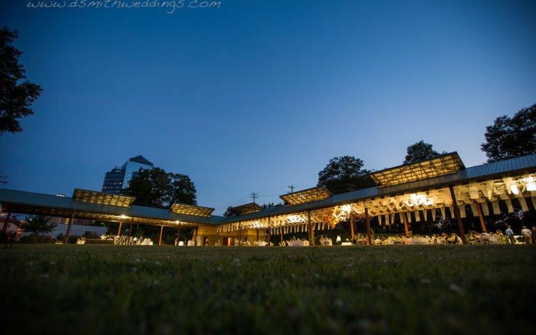 dusk wedding at The Pavilion