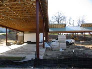 Pavilion Under Construction, 2006 (Credit Bull City Rising Blog)